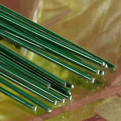 Painted Floral Stem Wire - Green
